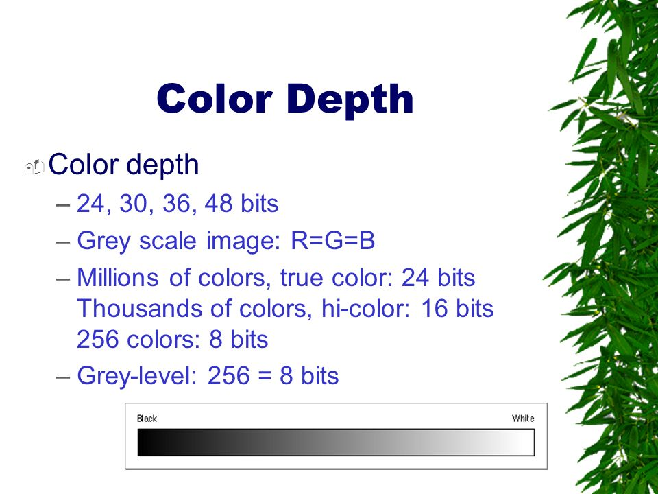 how to change bit depth of an image to 24