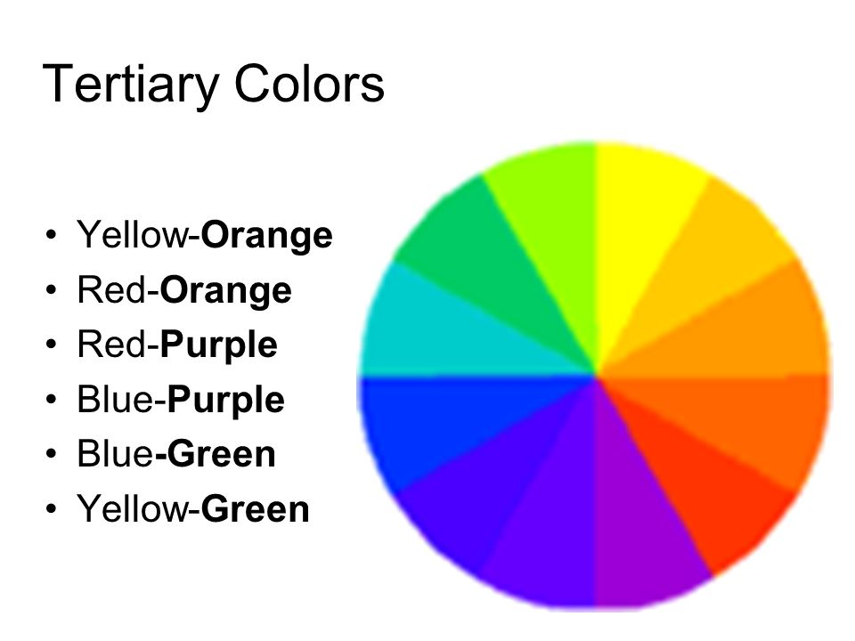 Tertiary Colors Yellow Orange Red Purple Blue