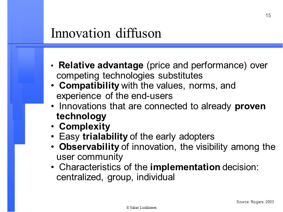 Innovation In Classroom Structure ~ Characteristics of innovation ppt video online download