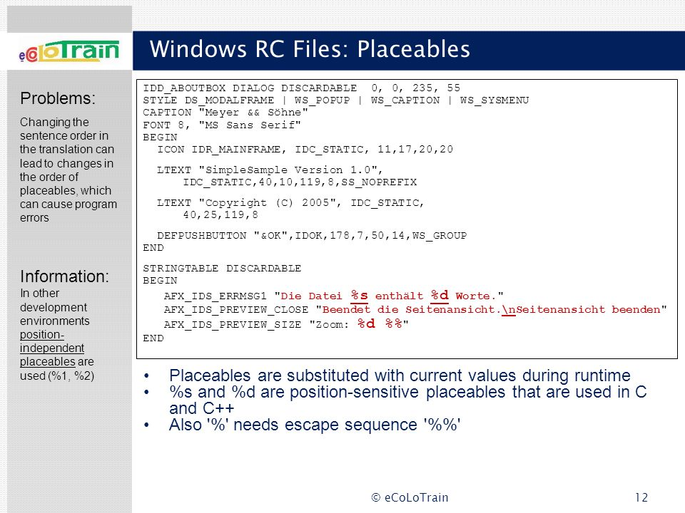 Windows RC Files: Placeables