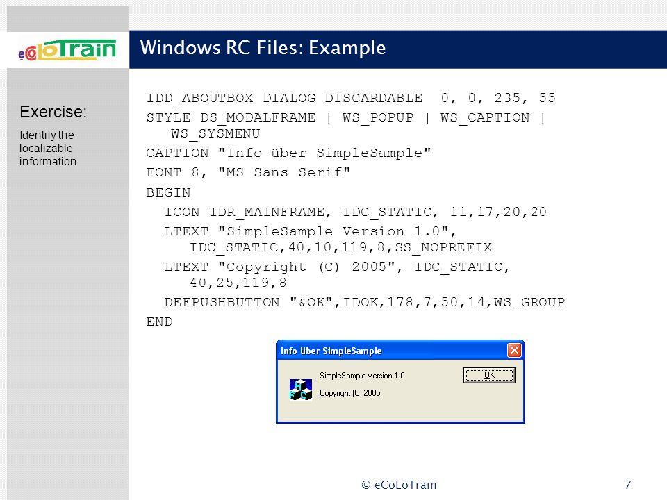 Windows RC Files: Example