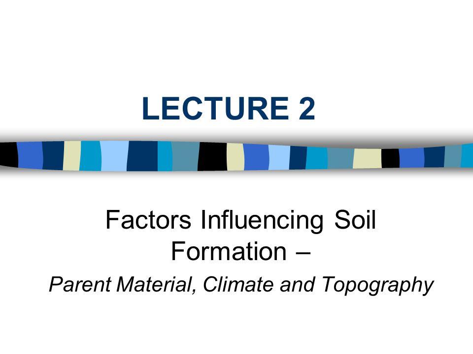 soil formation essay