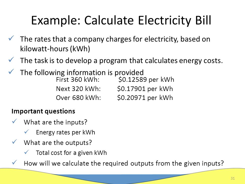 Electricity Bill Calculate Electricity Bill