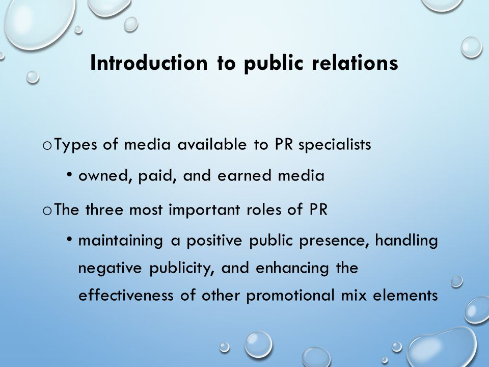 "the roles and importance of public relations The public relations professional now serves a role as ""prescriber"" of recommended communications strategies to advance the essential mission of the enterprise public relations professionals with access to the csr decision-making table offer great insights into devising and deploying a corporate social responsibility program that will."