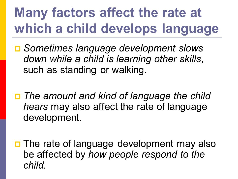 Language Development: General Development and Infancy ...