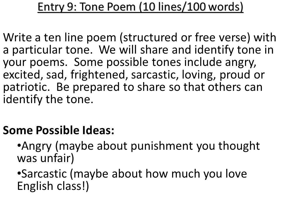 Form: The way a poem looks on paper Line: A verse of Poetry Stanza ...