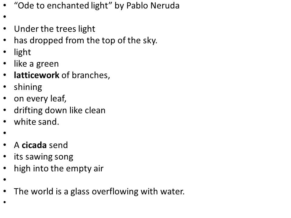 an analysis of ode to bees by pablo neruda Ode to the bee pablo neruda plentiness of the bee coming and going bees, pure selfless workers, thin, flashing proletarians, perfect fearsome militia.