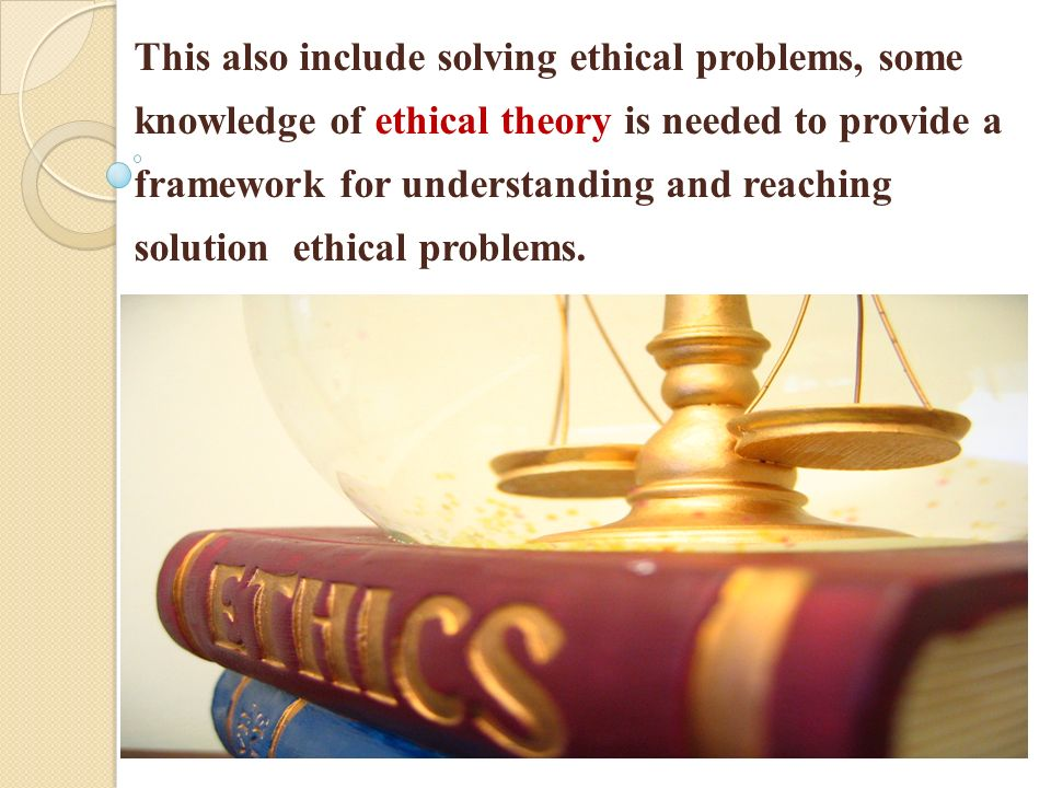 solving moral problems Solving major moral dilemmas  teaching on business ethics is built around exploring significant case studies and is developed in response to profound moral dilemmas in particular, the.