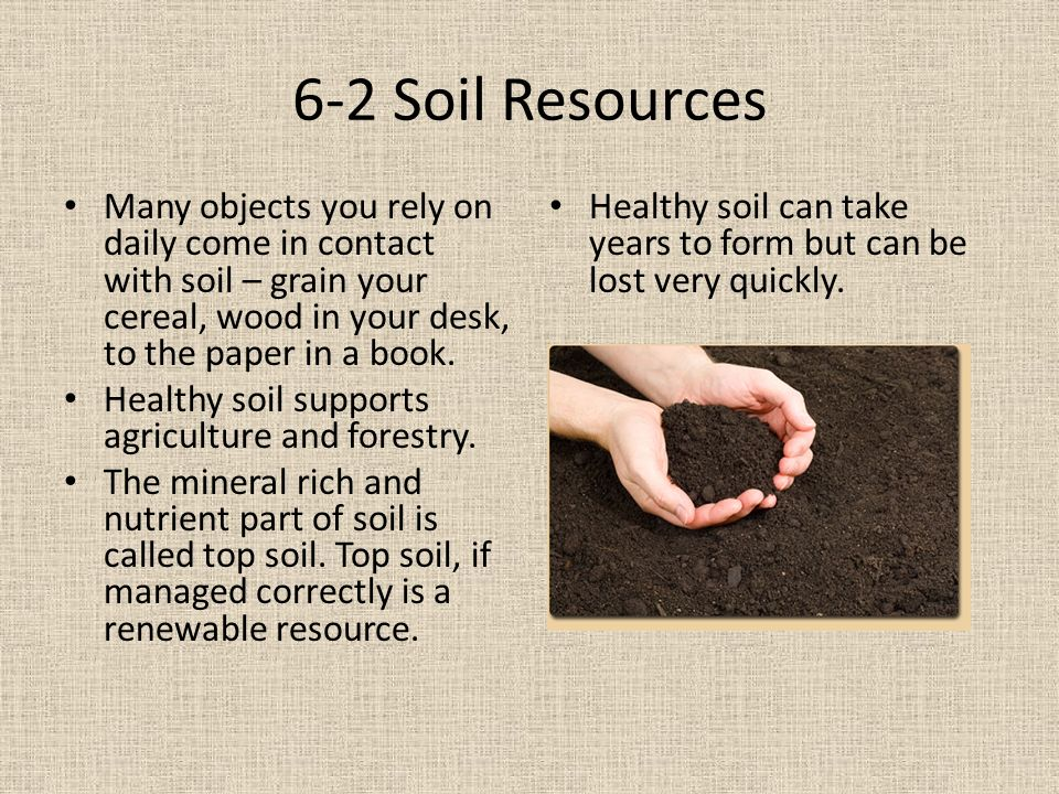 Humans in the biosphere ppt video online download for What is rich soil called