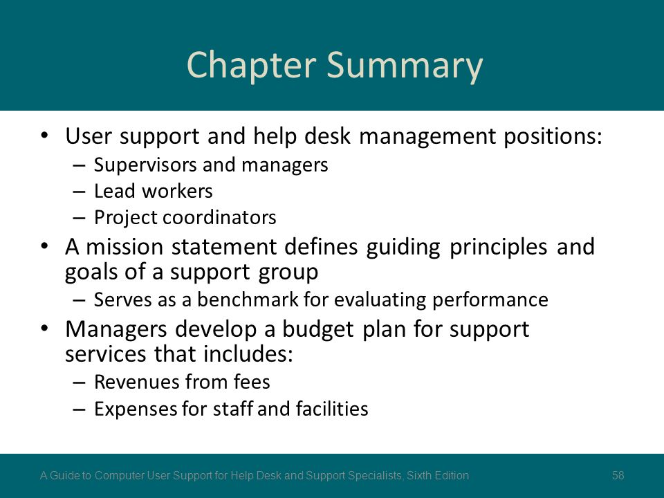 User support management ppt download - Project management office mission statement ...