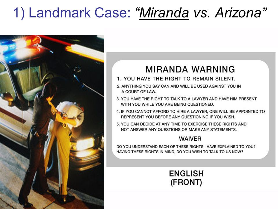 an analysis of mirandas case in arizona supreme court from 1965 De paul law review miranda v state of arizona-the fifth amendment enters the police station the supreme court.