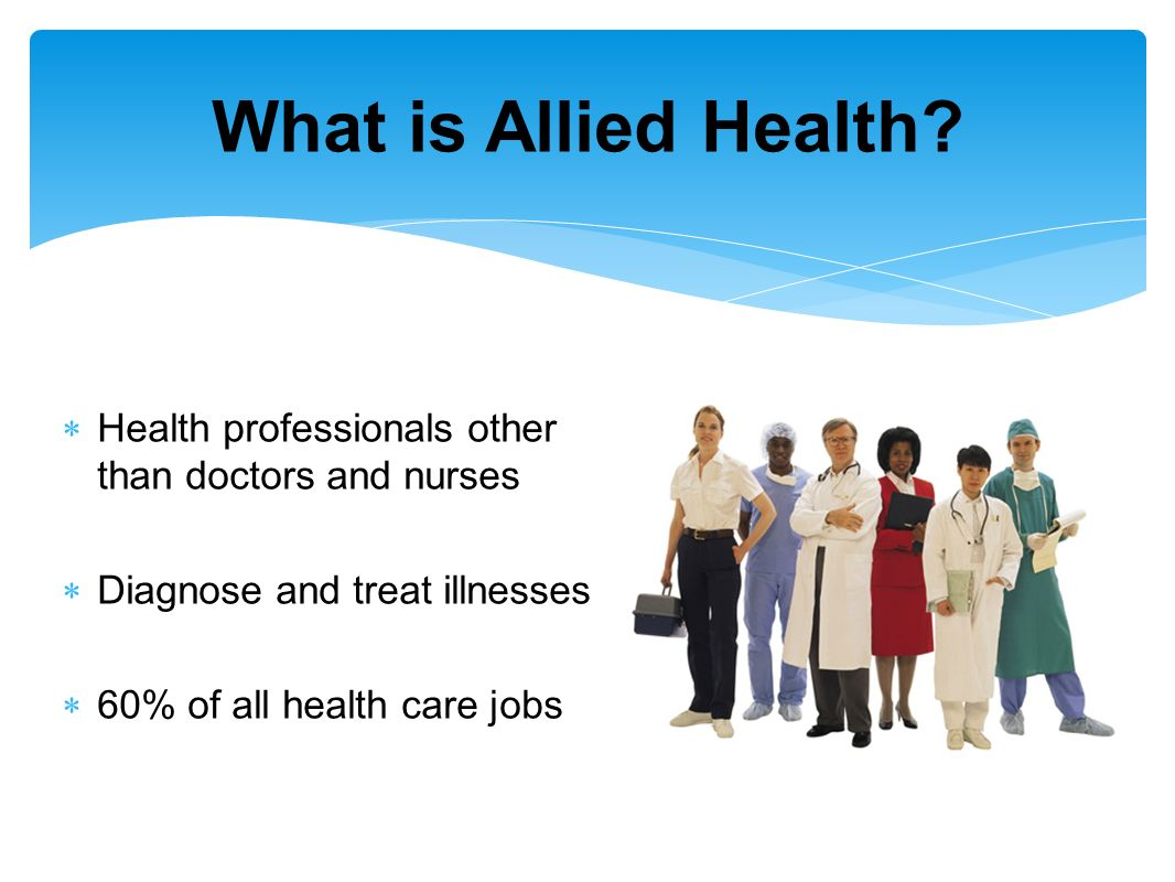 allied health 1 Student to preceptor ratio (1-3:1) see what you can do as an athletic trainer as health care professionals, athletic trainers (ats) work with physicians to enhance patient/client abilities in.
