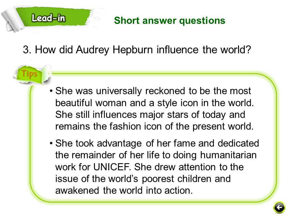 3. How did Audrey Hepburn influence the world