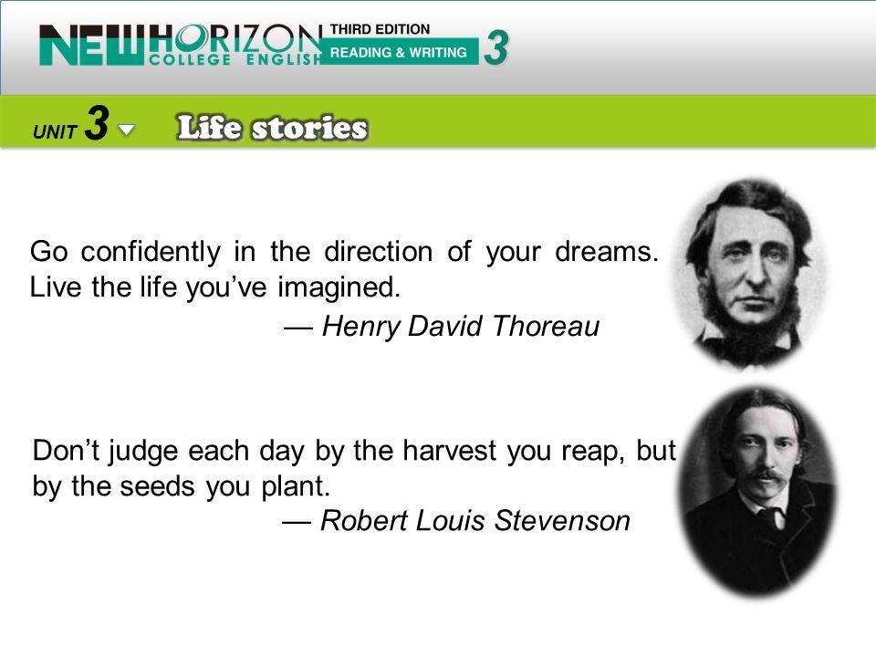 3 Life stories — Henry David Thoreau