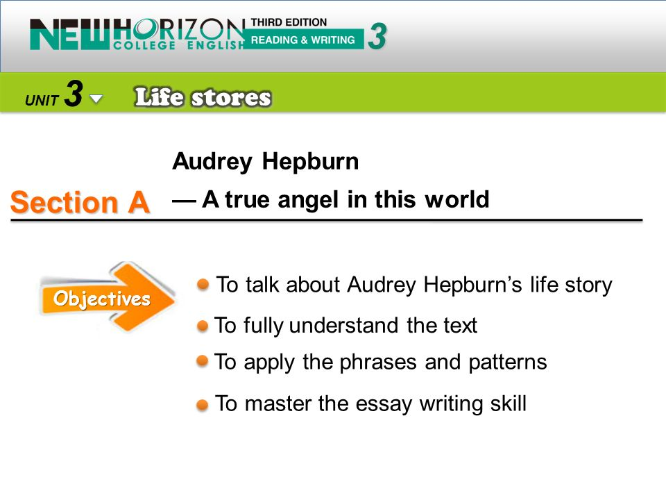 Section A 3 3 Life stores Audrey Hepburn — A true angel in this world