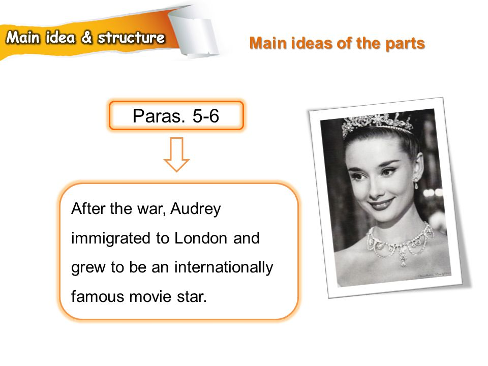 Paras. 5-6 Main ideas of the parts