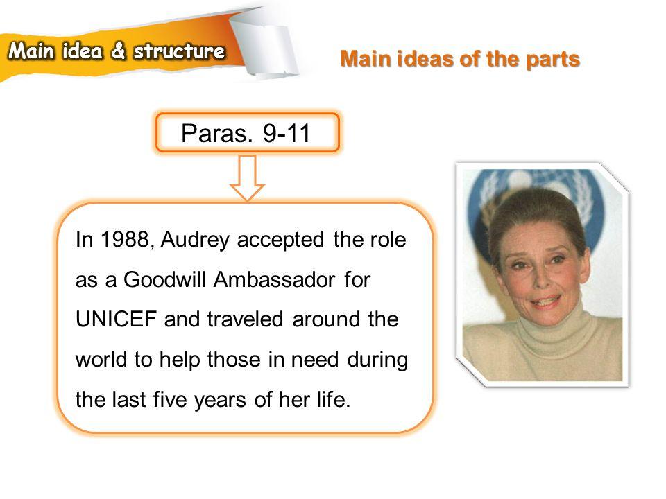 Paras. 9-11 Main ideas of the parts