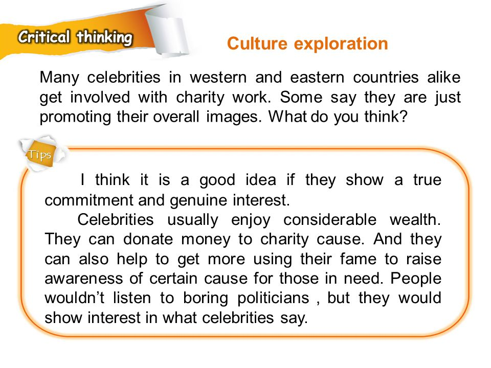 Critical thinking Culture exploration.