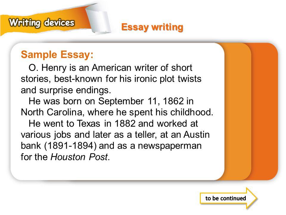 Sample Essay: Essay writing