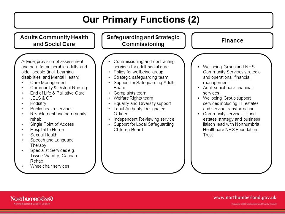 5 Our Primary Functions (2) Adults Community Health and Social Care ...