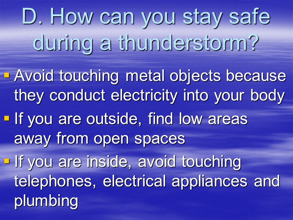 Thunderstorms Ppt Download