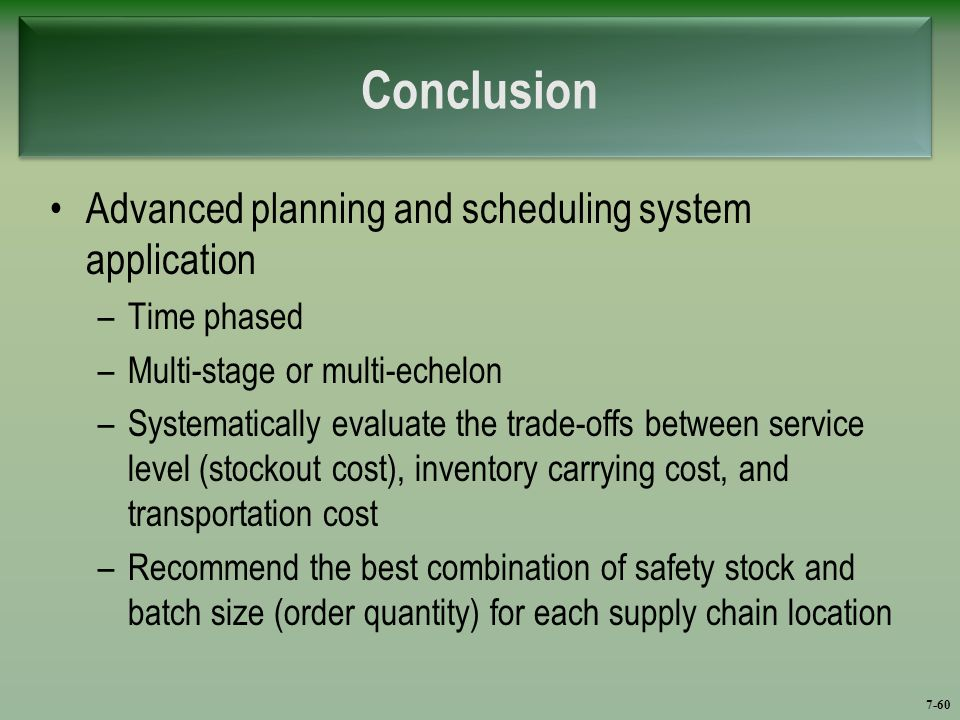 conclusion about inventory system Learning for the nhs on procurement and supply chain management: a rapid   use) organisations may benefit from more efficient inventory control and cost.