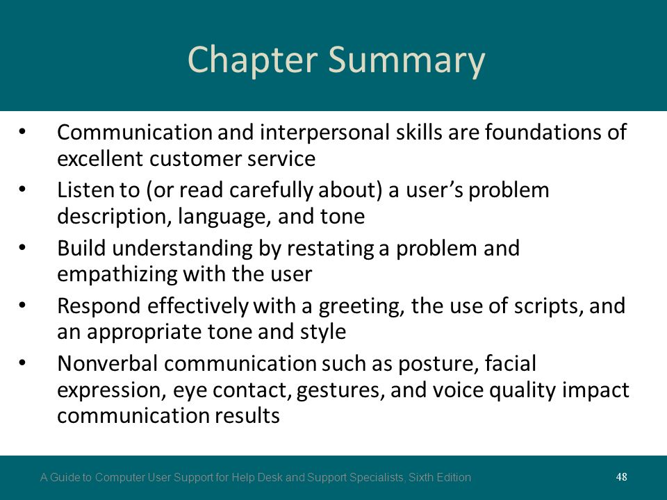 customer service skills for user support agents