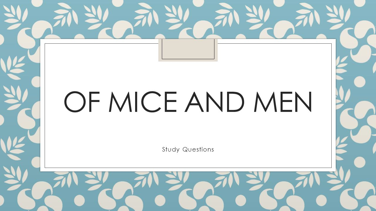 Of Mice and Men Study Questions