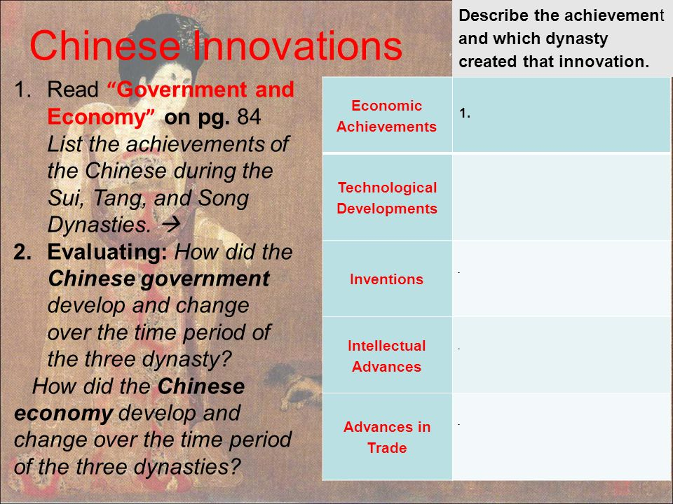 Changes in china during the sui tang and song dynasties essay
