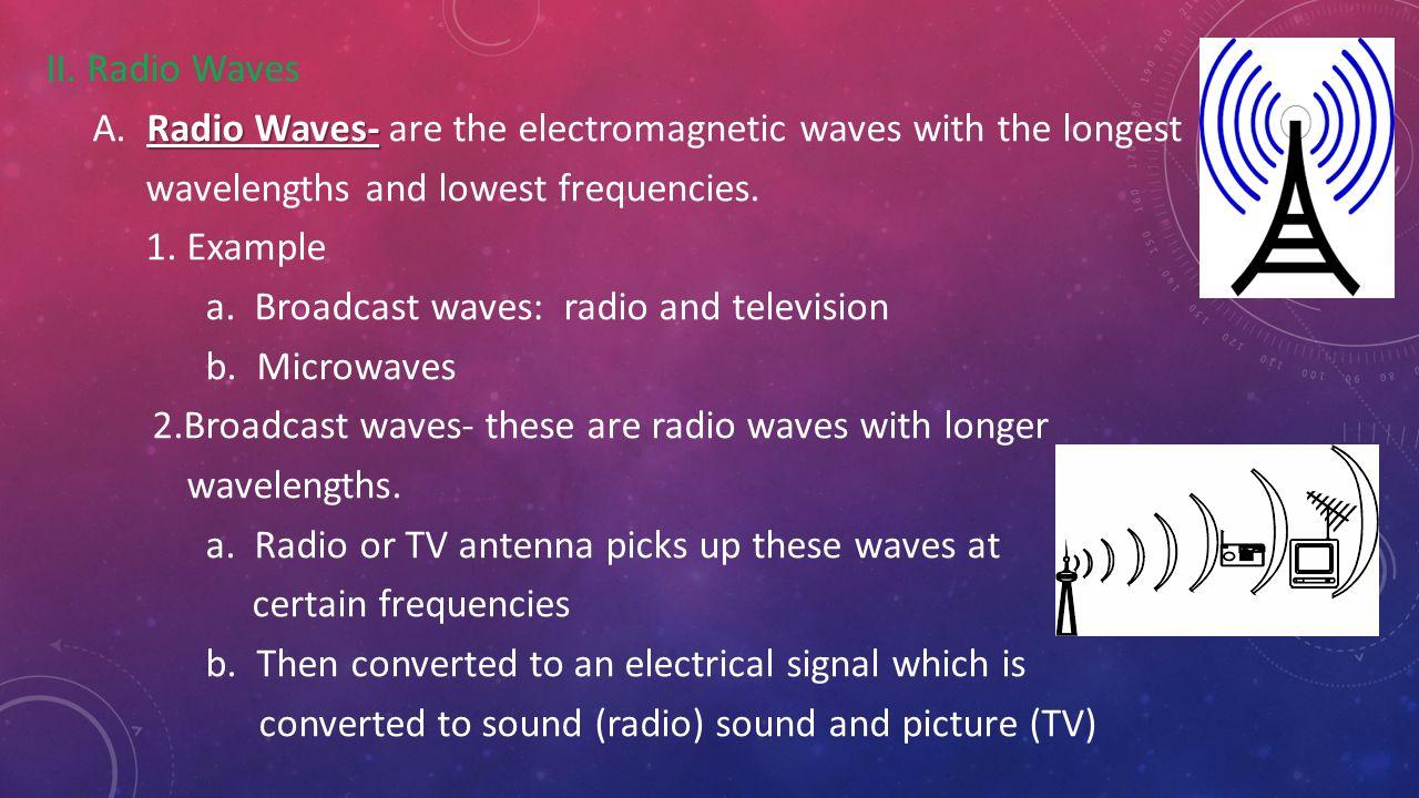 Radio Waves Examples Olivero Radiowavesdiagram Chapter 3 The Electromagnetic Spectrum Ppt Video Online