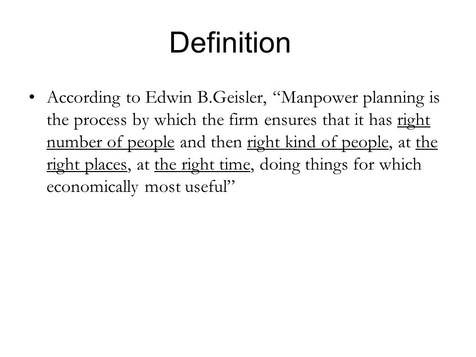 hrm definition by edwin b flippo According to edwin b flippo, ―human resource management is the planning, organising, directing and controlling of the procurement, development, resources to the end that individual and societal objectives are accomplished.