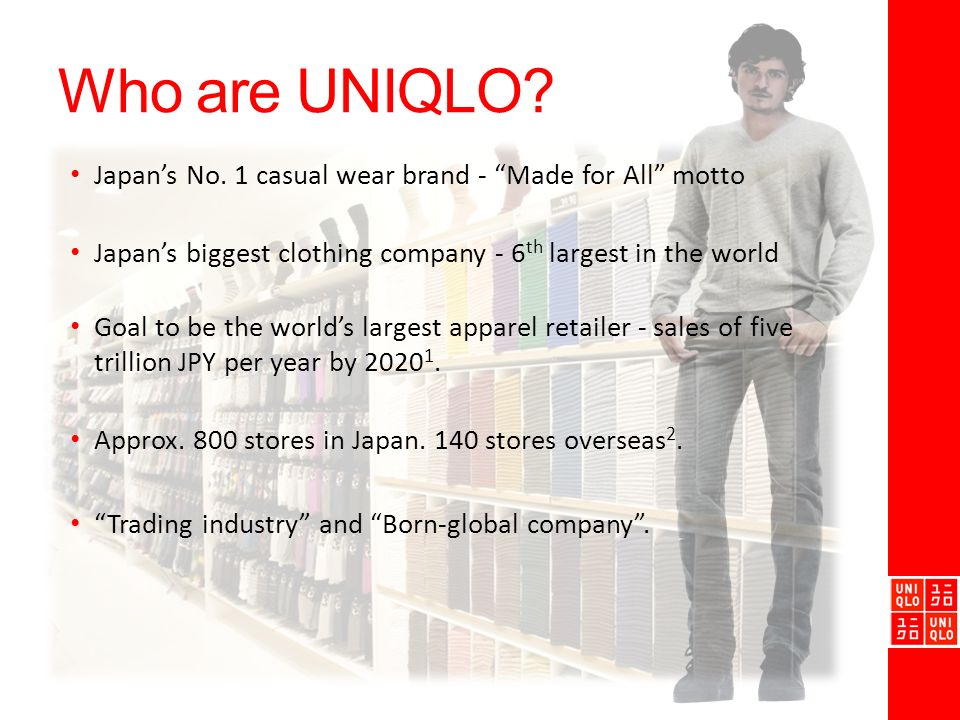 supply chain management of uniqlo The module scrutinizes supply chain management from a supply perspective the fundamental principles of supply chain management are outlined with a particular focus on customer and supplier relationship management and sources of competitive advantage within an organisation's supply chain.