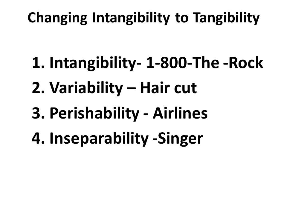 tangibility and intangibility of humanity essay