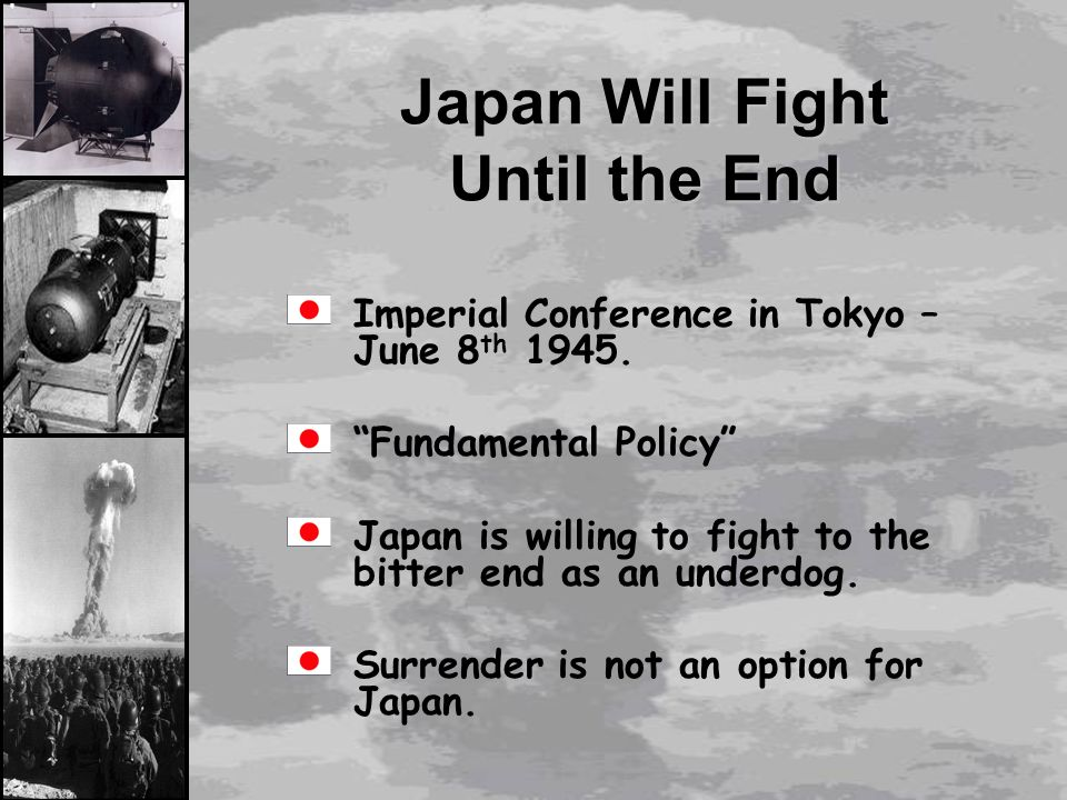 the dropping of the atomic bomb on hiroshima and nagasaki as the better option to defeat japan Did he accomplish those goals in dropping the atomic bomb on hiroshima and nagasaki why or why dropping the atomic bomb of atomic bombs against japan.