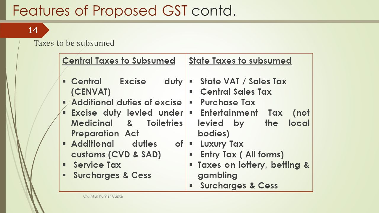 features of service tax Features of gst x single tax on supply of goods and services the final consumer will bear only the gst charged right from the manufacturer to consumer destination.