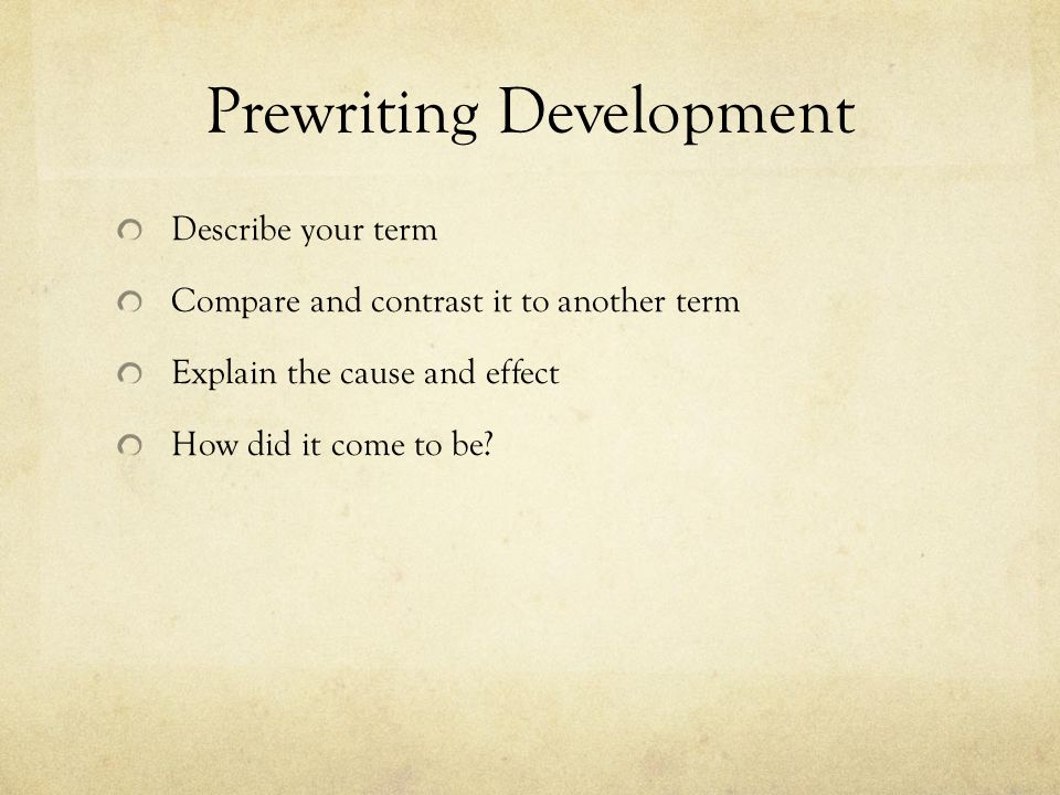 the definition essay ppt  7 prewriting development