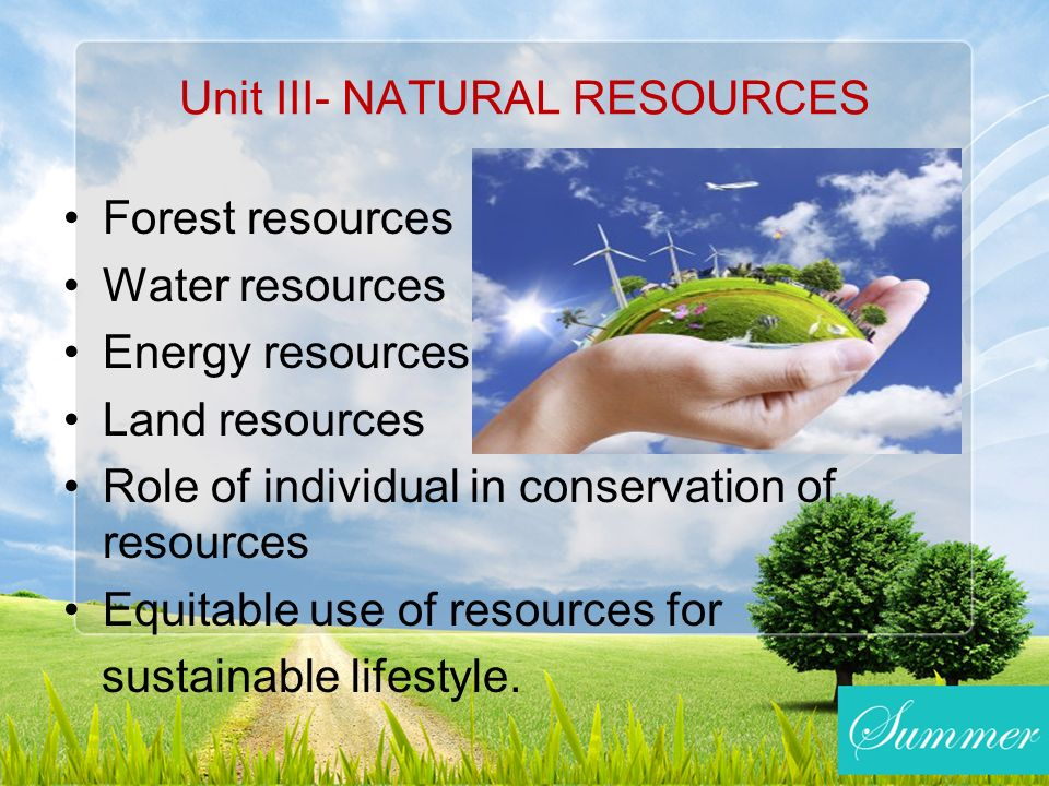How Do You Use The Natural Resource Water