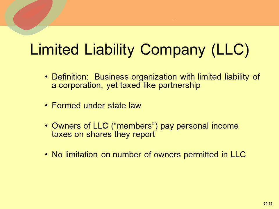 limited liability corporation and partnership The limited liability company law and partnership law include provisions regarding the publication required upon the formation or authorization of domestic and foreign limited liability companies, limited partnerships and limited liability partnerships (hereinafter referred to as limited liability entities.