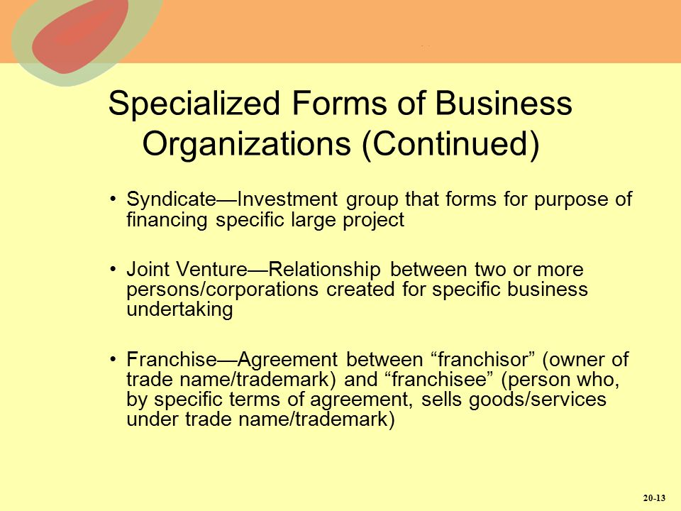 Forms Of Business Organization  Ppt Video Online Download