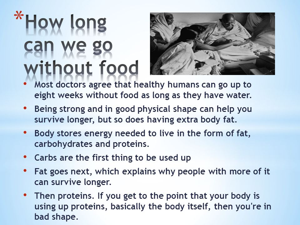 Can Fat People Survive Without Food For Longer