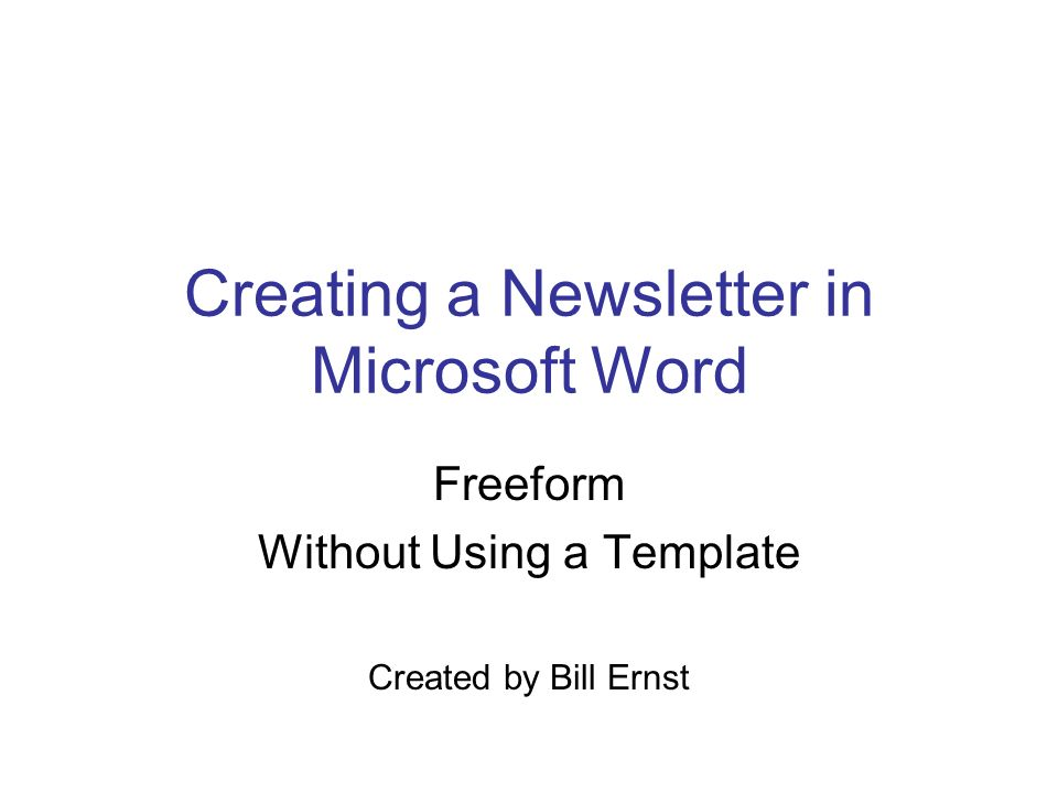 creating a newsletter in microsoft word ppt download. Black Bedroom Furniture Sets. Home Design Ideas