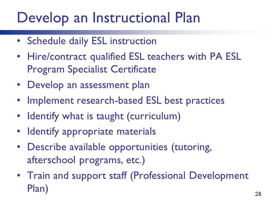 sample instructional plan for teachers