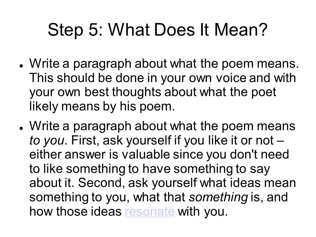 How to Write a Poem That Describes You