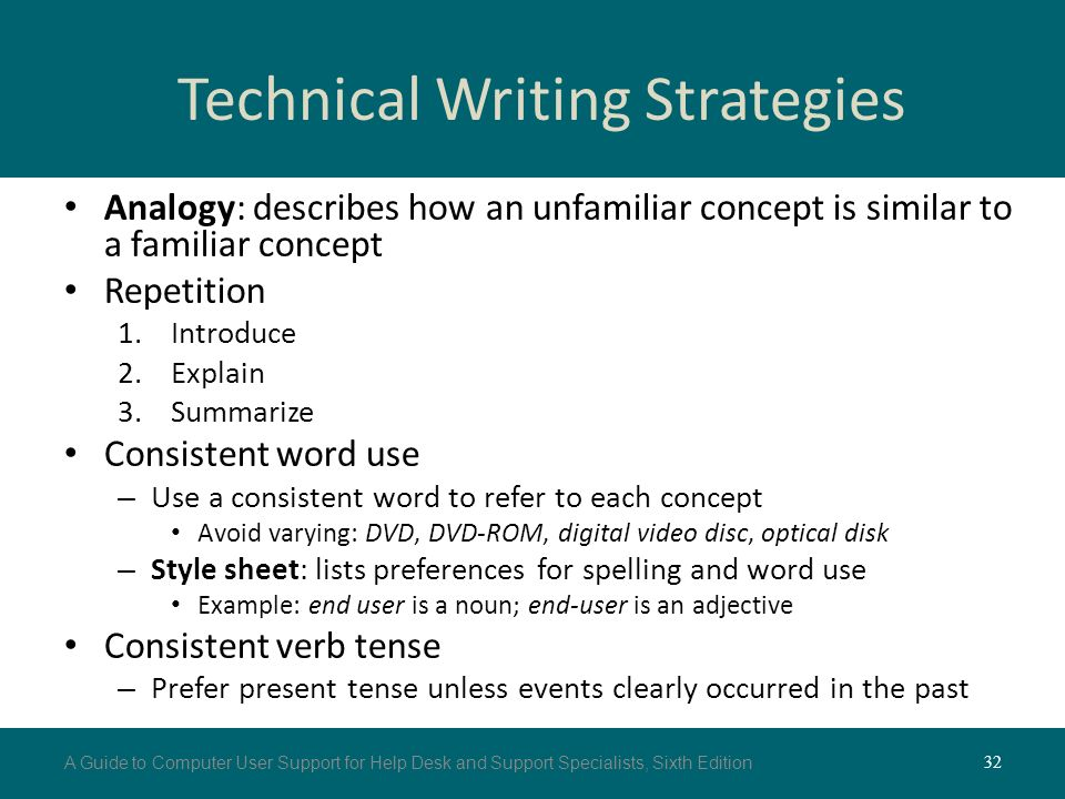 technical writing style guide For style standards that apply to content written for sites other than mdn,  the  best place to start in any extensive publishing style guide is with some  an  article you create or modify, especially if the article is very technical.