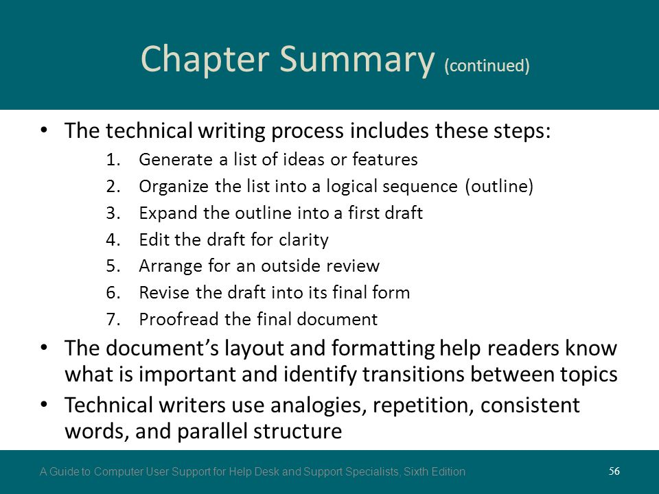 chapter 3 writing for end users