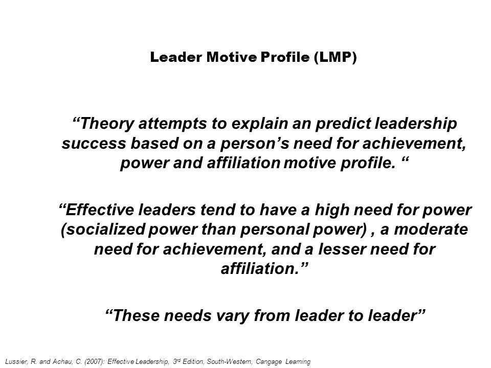 Leader Motive Profile (LMP)