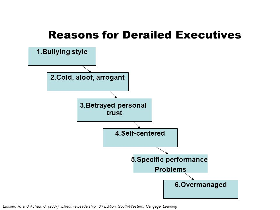 Reasons for Derailed Executives
