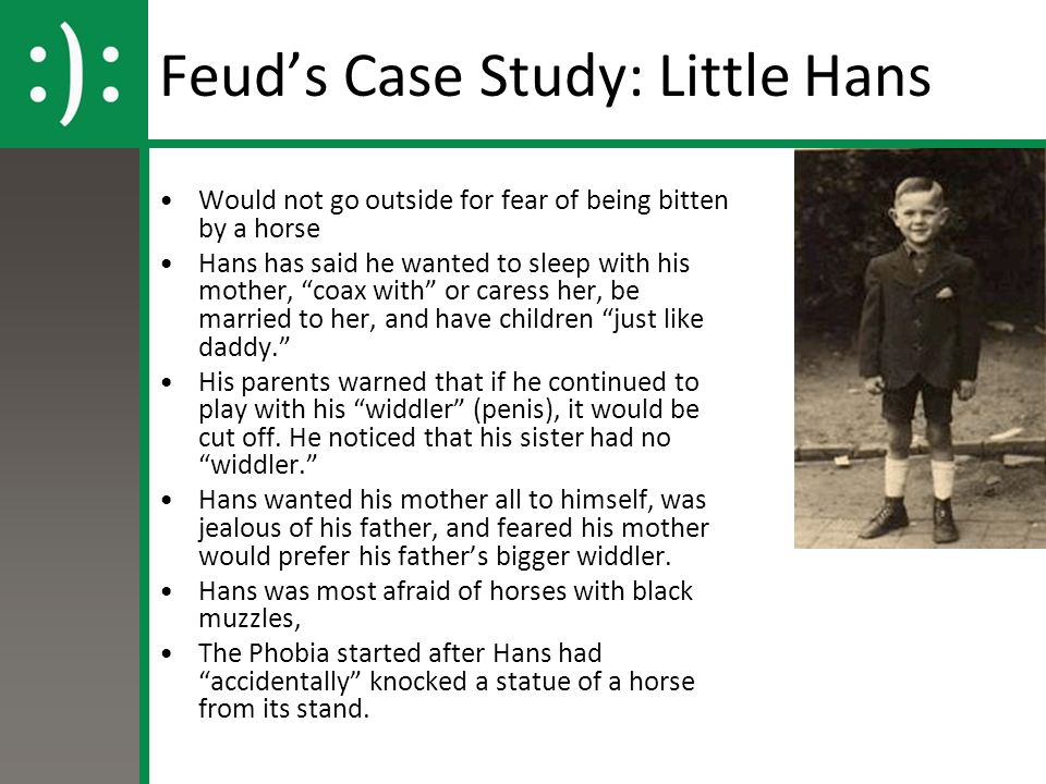 psychology little hans evaluation Psychological processes (eg freud's case study of little hans) freud (1909) analysis of a phobia in a five-year-old boy hans, a small boy four.