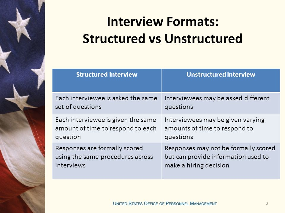 agenda purpose of federal job interviews interview formats