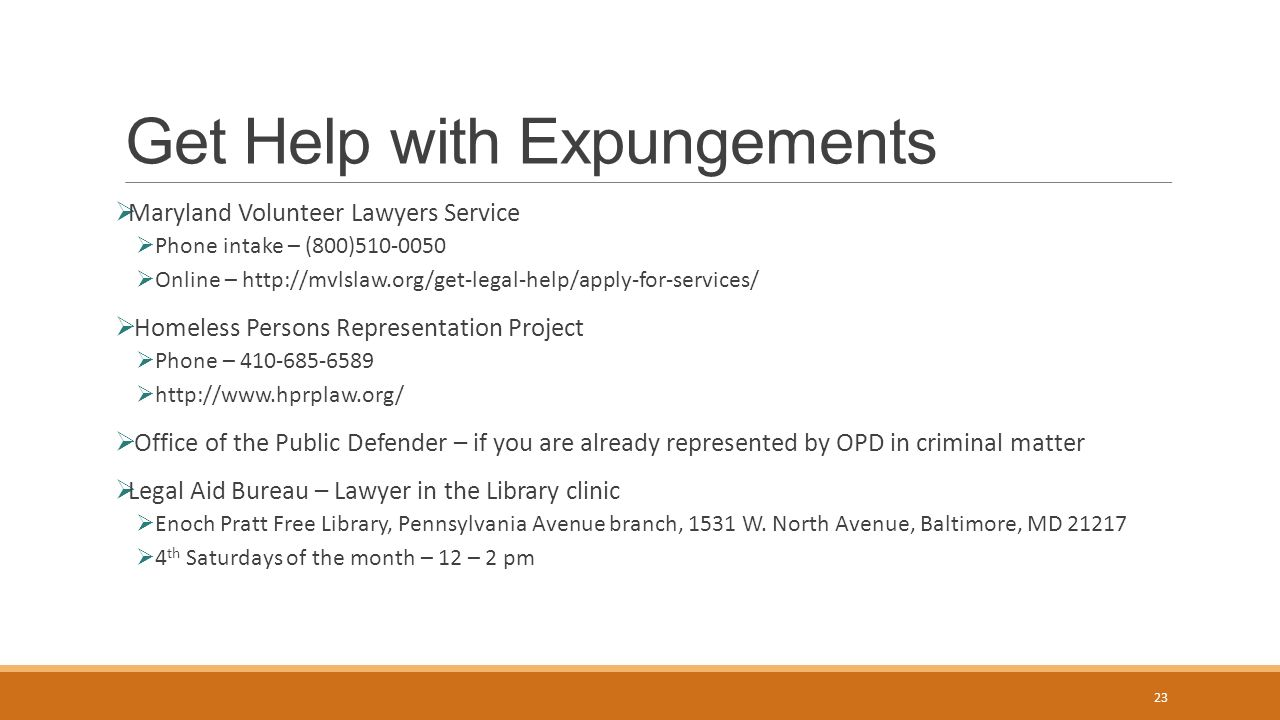 Expungement and Shielding - ppt download